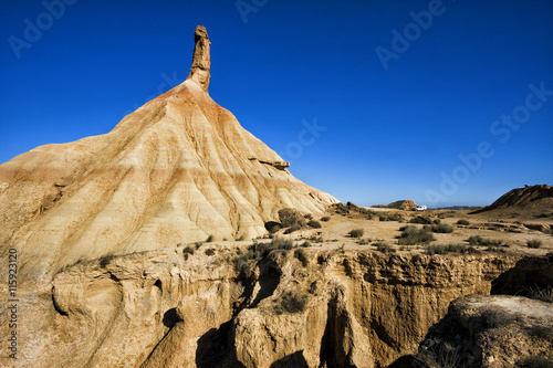 Photo  Bardenas Reales natural park in Navara Spain