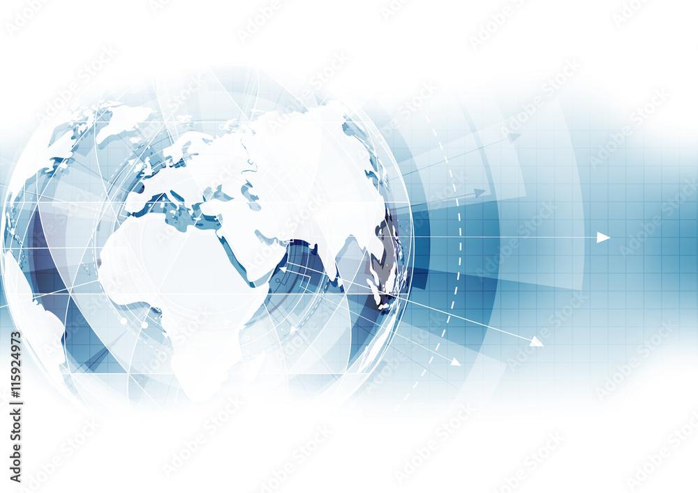 Fototapeta vector digital global technology concept, abstract background
