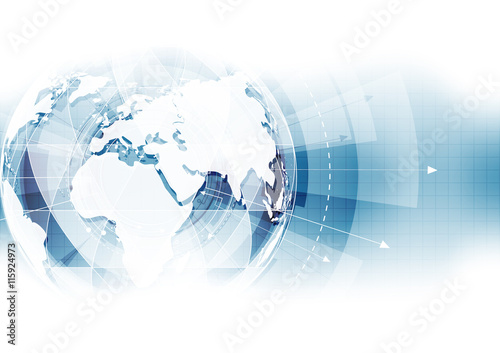 Obraz vector digital global technology concept, abstract background - fototapety do salonu