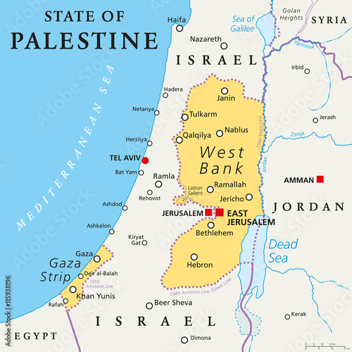 State of Palestine with designated capital East Jerusalem ...