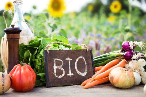 Photo Frisches Gemüse auf einem Tisch