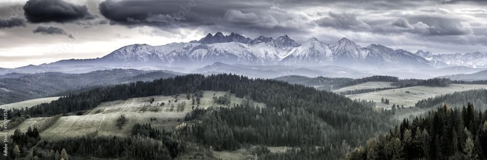 Fototapety, obrazy: Panorama Tatry