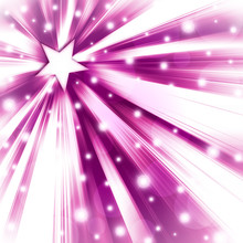 Pink And White Starburst Backg...