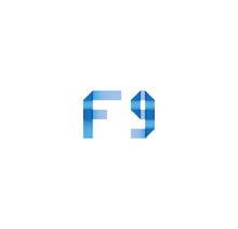 F9 Initial Simple Modern Blue