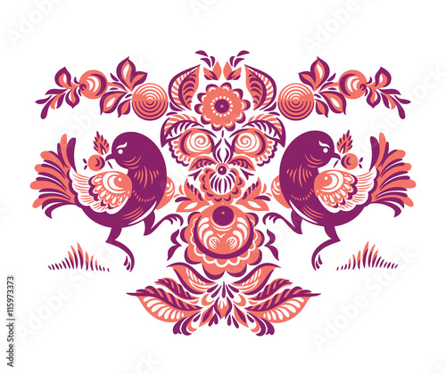 floral-pattern-with-two-birds-in-gorodets