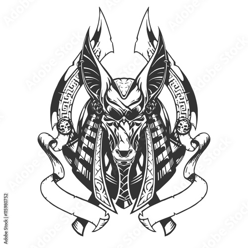 Anubis illustration Canvas Print