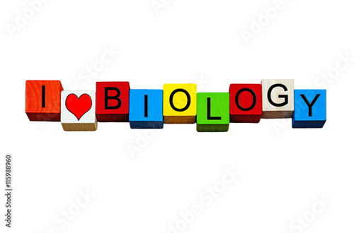 I Love Biology - for biology subject, science & education. Canvas Print