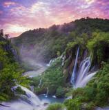 Fototapeta Do pokoju - Plitvice waterfalls at sunrise