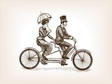 Vintage Lady And Gentleman Bic...