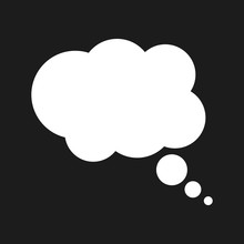 Thought Bubble On The Black Background. Infographic Design