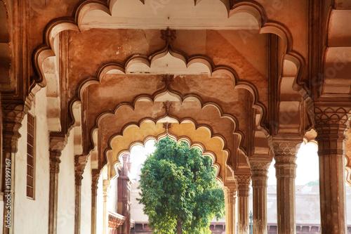 Autocollant pour porte Delhi Hall of Public Audience Agra Fort India