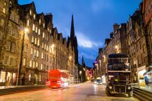 Street View Of The Historic Royal Mile, Edinburgh
