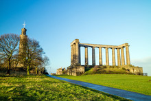Monuments On Calton Hill In Ed...