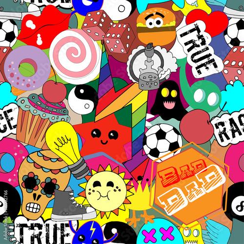 Poster Geometrische dieren Colorful stickers