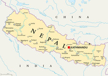 Nepal Political Map With Capit...