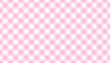 Rosa Karo Tischdecken Muster K...