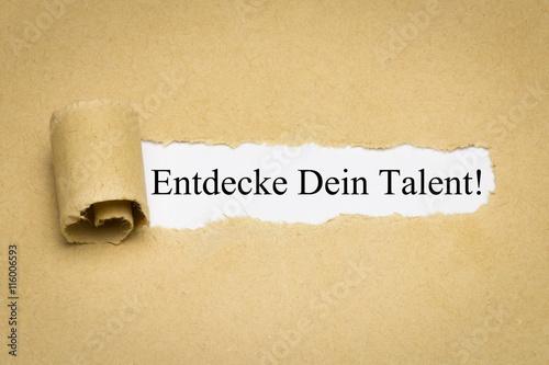 Fotografie, Obraz  Entdecke Dein Talent!