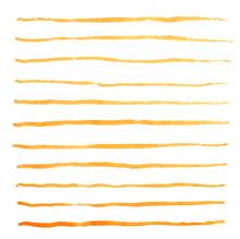 Watercolor Stripes Strokes Ora...