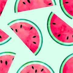 fototapeta owocowe kawałki arbuza