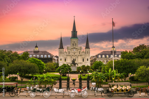 St. Louis Cathedral at Jackson Square, New Orleans, Louisiana. Canvas Print
