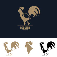 Rooster Silhouette Illustration.