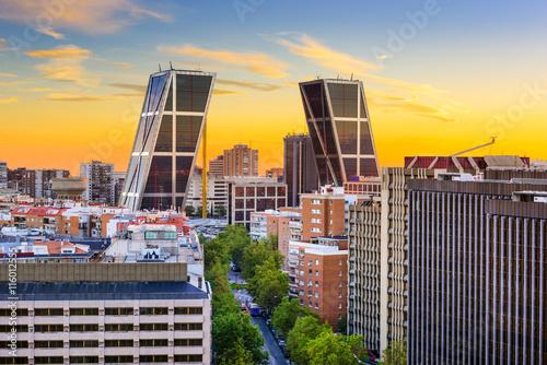 Spoed Fotobehang Madrid Madrid, Spain Chamartin Cityscape