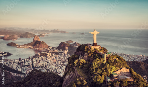 Photo  Aerial panorama of Botafogo Bay and Sugar Loaf Mountain, Rio De Janeiro