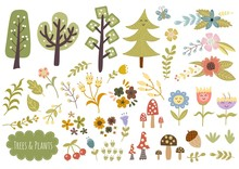 Trees, Plants And Flowers Collection