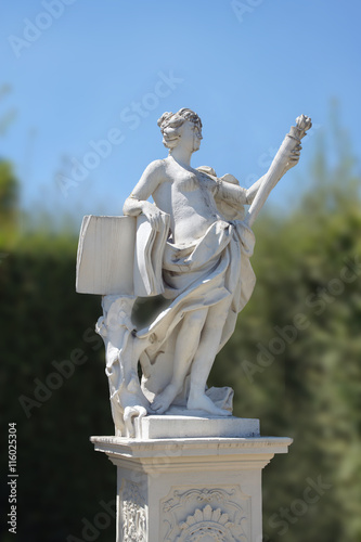 Klio, Muse in the gardens of Palace Belvedere Canvas Print