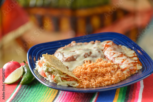 Fotografie, Obraz  Colorful Traditional Mexican food dishes