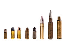 Various Bullets Isolated