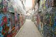 canvas print picture - Graffiti Street - Ghent - Belgium