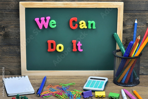 We can do it word Poster