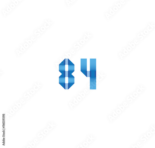 Poster  84 initial simple modern blue