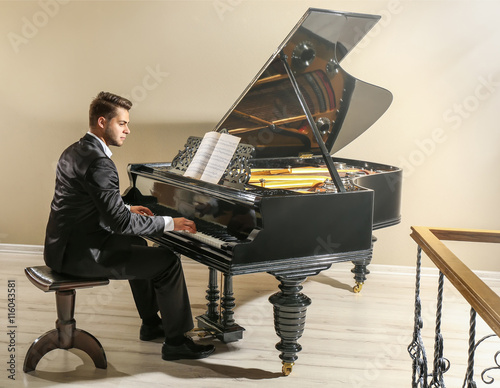 Musician playing piano Canvas-taulu