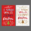 Merry Christmas hand Lettering card