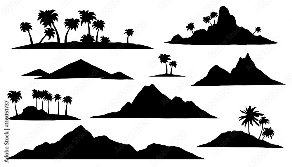 Fototapeta island silhouettes