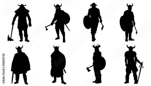 Fotografie, Obraz  viking silhouettes