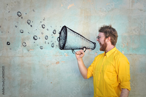 obraz lub plakat Invisible megaphone