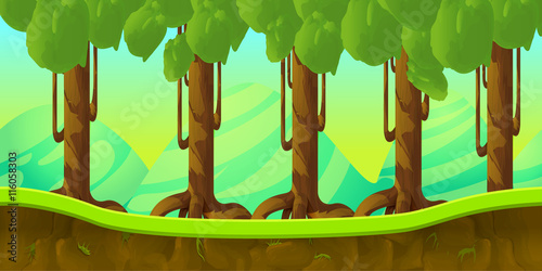 game background 2d  application плакат