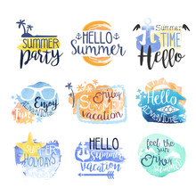 Summer Vacation Promo Signs Co...