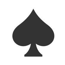 Spades Icon. Simple Flat Logo ...