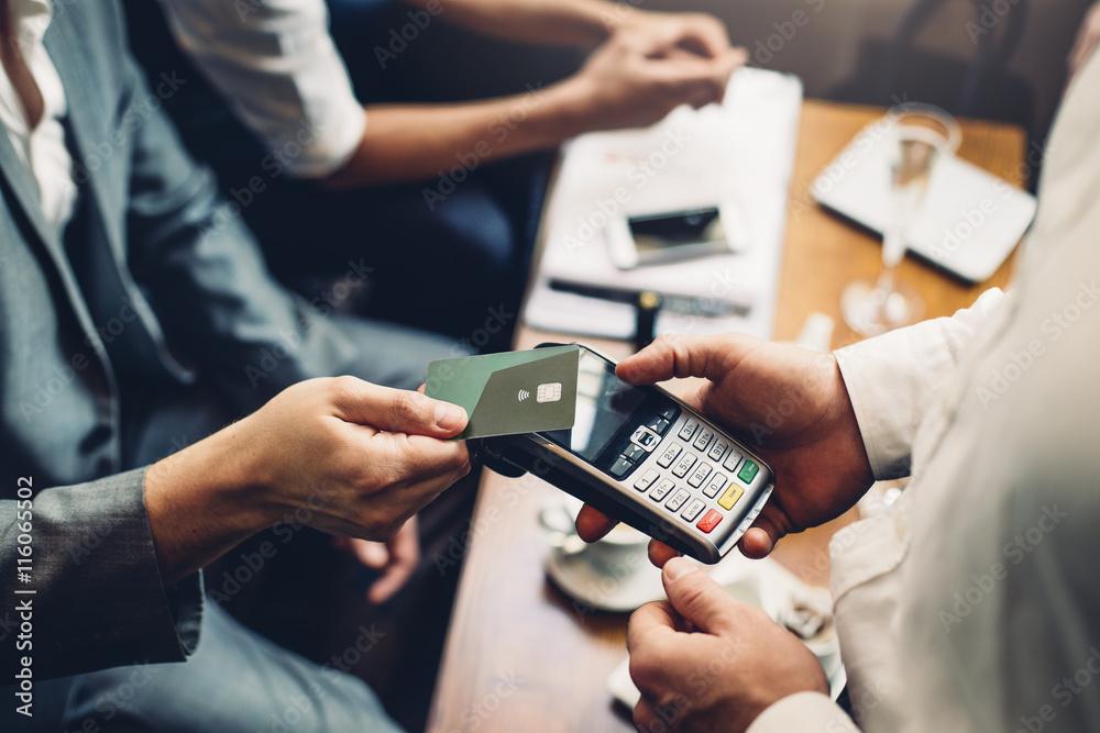 Fototapeta Contactless Card Payment