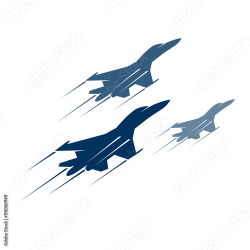 Fotomural fighter aircraft