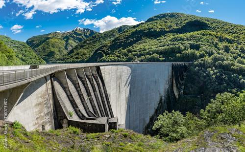 Poster Dam Staumauer Diga di Verzasca am Lago di Vogorno