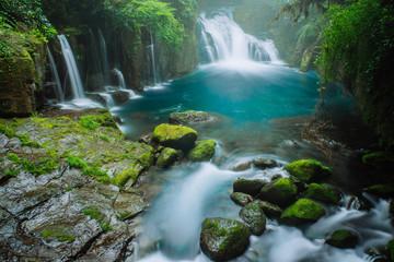 菊池温泉の滝
