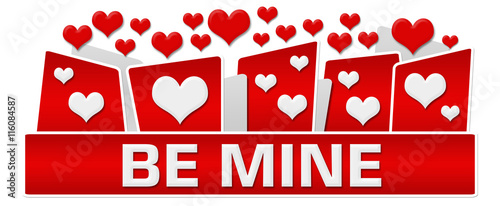 Photo  Be Mine Red Hearts On Top