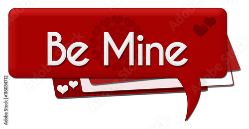 Be Mine Red Hearts Comment Symbol Canvas Print