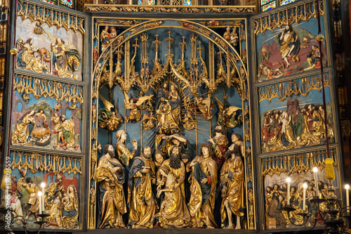Canvas Print St Mary Altar in Krakow