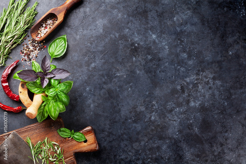 Herbs and spices Fototapet